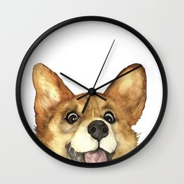 CORGI CRAZY Wall Clock