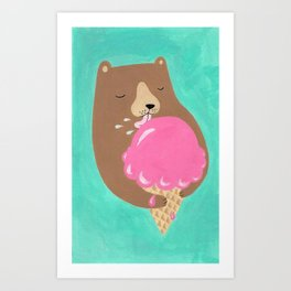 We all dream of ice cream Art Print