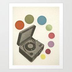 Pop Music Art Print