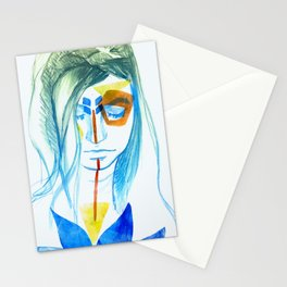 Young Girl in Blue Stationery Cards