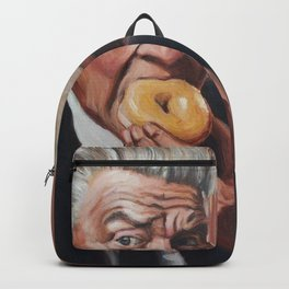 Gordon Cole eats a Donut - David Lynch Twin Peaks Painting Backpack