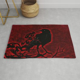 The Red Raven Rug