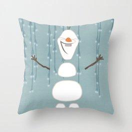 Build A Snowman Throw Pillow