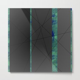 4Shades: Blue Metal Print
