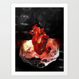 How to Start a Fire Art Print