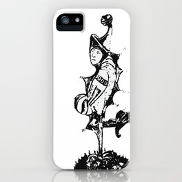 Grotesque medieval art - black and white iPhone Case