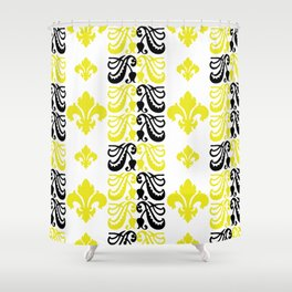 Fluer de Lis Custom Yellow Shower Curtain