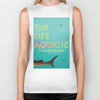 murray Biker Tanks featuring The Life Aquatic by Wharton