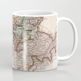 Vintage Map of Switzerland (1832) Coffee Mug