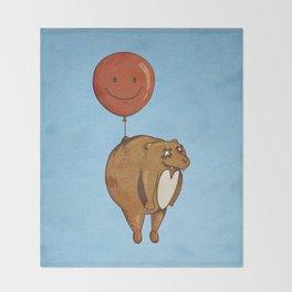 Float On, Bear, Float On Throw Blanket