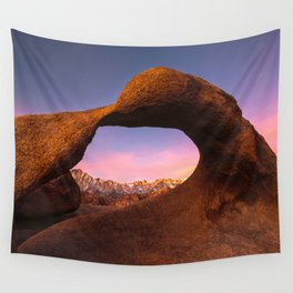 Mobius Arch Sunrise  2-12-16  Wall Tapestry