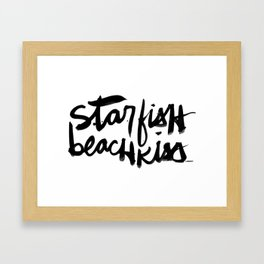Starfish Beachkiss Framed Art Print