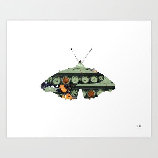 Butterfly Bomber Art Print