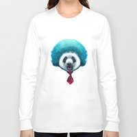 afro Long Sleeve T-shirts featuring PANDA AFRO by ADAMLAWLESS