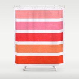 Pink & Orange Geometric Pattern Shower Curtain
