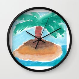 Palm Tree (Isla) Wall Clock