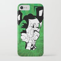 invader zim iPhone & iPod Cases featuring Invader Zim by JekyllDraws