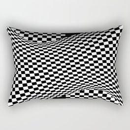 black white Rectangular Pillow