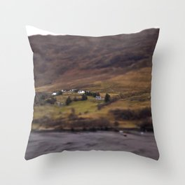 New Years Day, one year in Ullapool. Throw Pillow