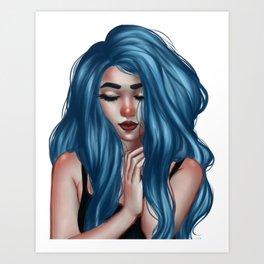 mermaid hair2 Art Print