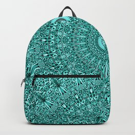 Turquoise Geometric Floral Mandala Backpack