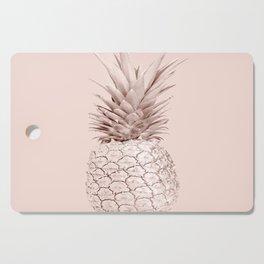 Rose Gold Pineapple on Blush Pink Cutting Board