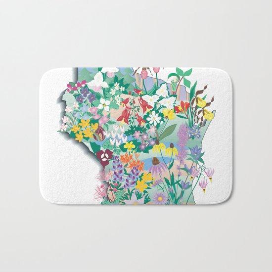 Wisconsin Wildflowers Bath Mat