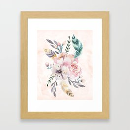 Forest Floral Pink by Nature Magick Framed Art Print