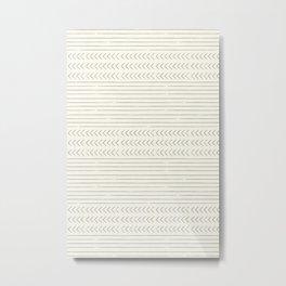 arrow stripes - gray on cream Metal Print