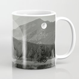 Mountain Mirror BW Coffee Mug