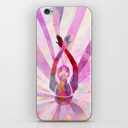 Sleeping Ballerina Floral iPhone Skin