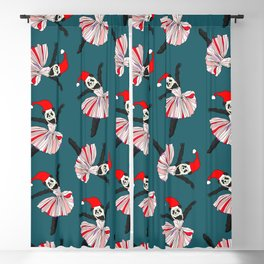 Hipster Holiday Ballerinas Blackout Curtain