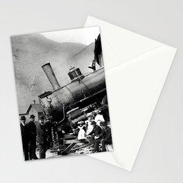 Roundhouse Locomotive Crash - Minturn - 1913 Stationery Cards
