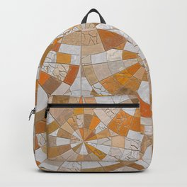 Marble cracked mosaic Backpack