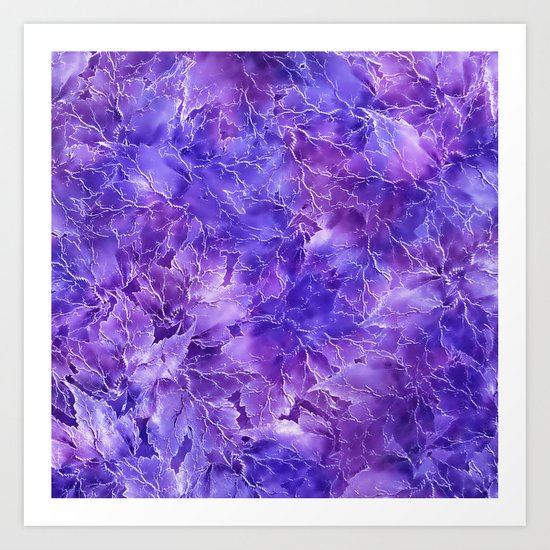 Frozen Leaves 20 Art Print