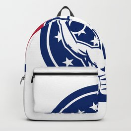 American Physical Fitness USA Flag Icon Backpack