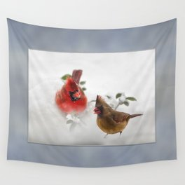 Mr. and Mrs. Cardinal Wall Tapestry