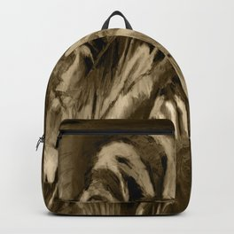Unique Brown Abstract Backpack