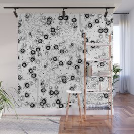 Tree in Bloom All over Pattern Wall Mural