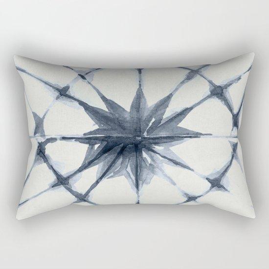 Shibori Starburst Indigo Blue on Lunar Gray by followmeinstead
