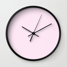 Peony Drama ~ Pale Pink Coordinating Solid Wall Clock