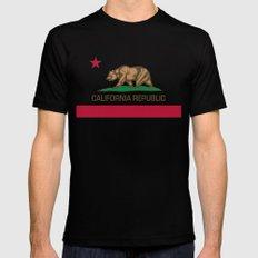 California flag Mens Fitted Tee MEDIUM Black