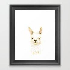Digital Llama Framed Art Print