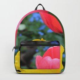 Tulips Yellow & Pink Backpack