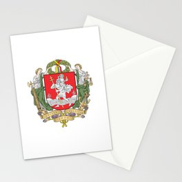 flag of vilnius Stationery Cards