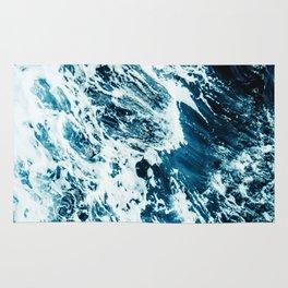 Water, Sea, Ocean, Wave, Blue, Nature, Modern art, Art, Minimal, Wall art Rug