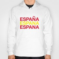 spain Hoodies featuring SPAIN by eyesblau