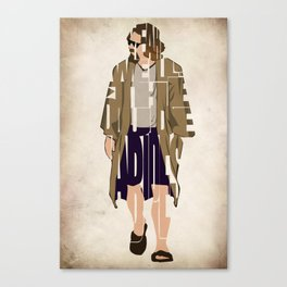 The Big Lebowski Inspired The Dude Typography Artwork Canvas Print