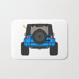Jeep Wave Back View - Blue Jeep Bath Mat