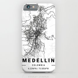 Medellin Light City Map iPhone Case